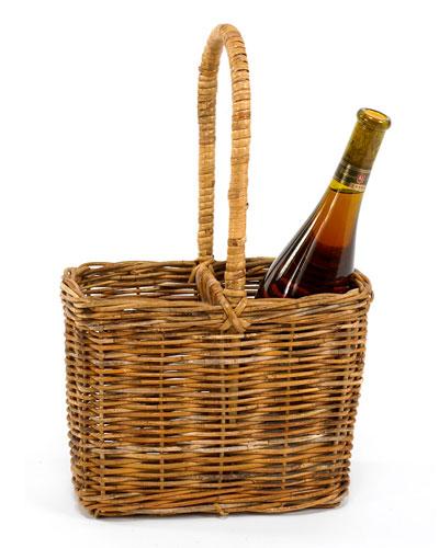 Cottage Two Bottle Carrier Basket