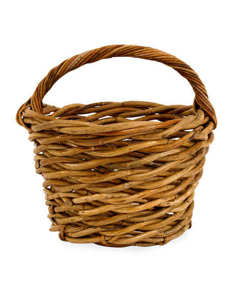 Cottage Egg Gather Rattan Basket