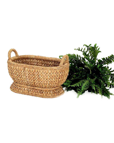 Sweater Weave Oval Compote Basket