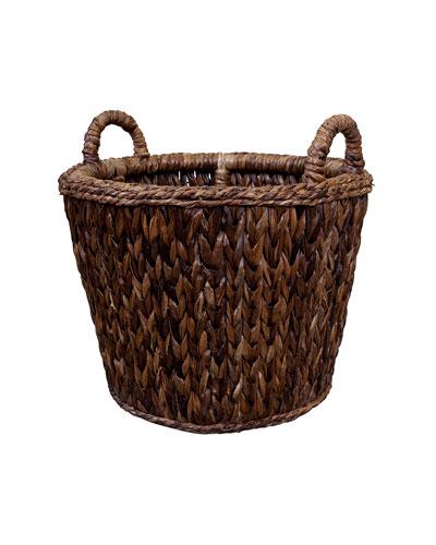 Sweater Weave Havana Log Basket