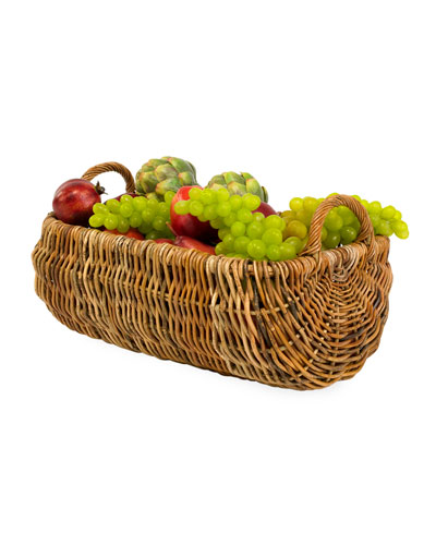 Cottage Kitchen Rattan Basket