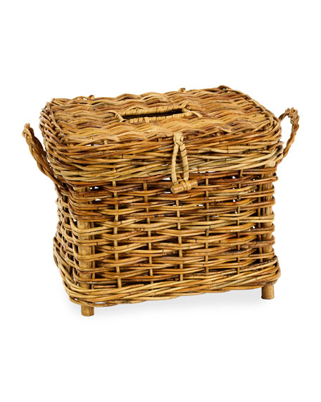 Cottage Fisherman's Rattan Basket