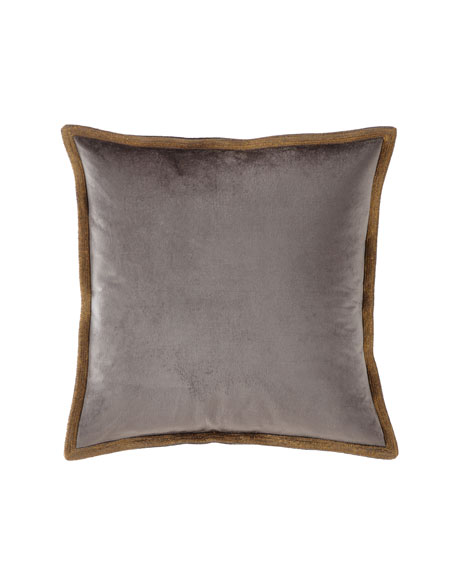 Velvet Metallic Stitch Decorative Pillow