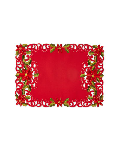Poinsettia Placemats  Set of 4