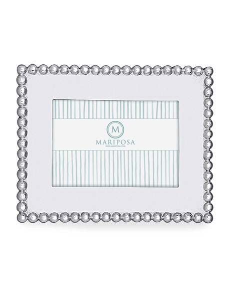 """Pearled Picture Picture Frame, 4"""" x 6"""""""