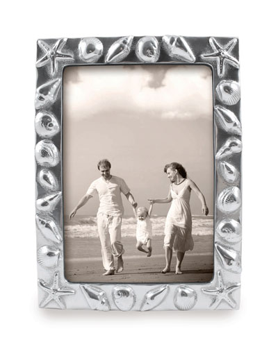 Shell Bordered Picture Frame  5 x 7