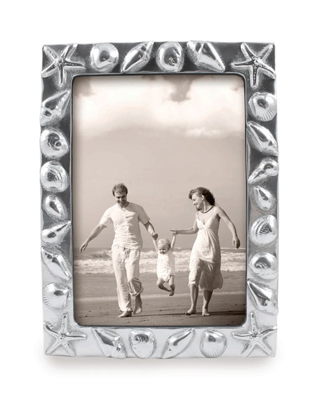 """Shell Bordered Picture Frame, 5"""" x 7"""""""