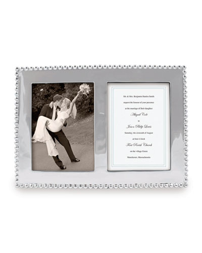 Pearled Double Picture Frame   5x 7