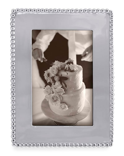 Beaded Engravable Picture Frame  4 x 6