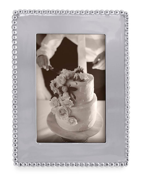 "Beaded Engravable Picture Frame, 4"" x 6"""