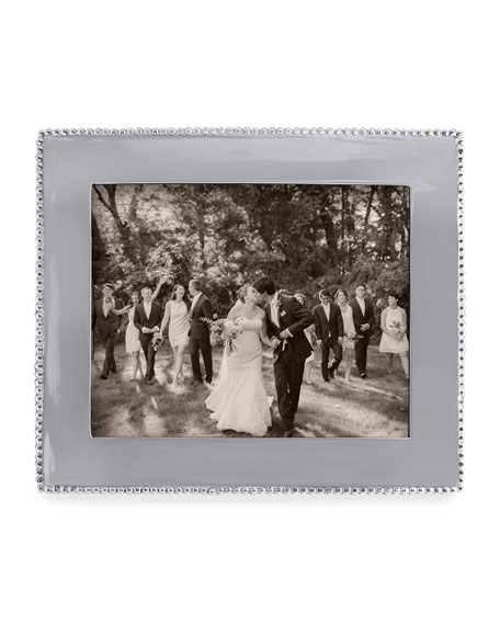 "Beaded Engravable Picture Frame, 8"" x 10"""