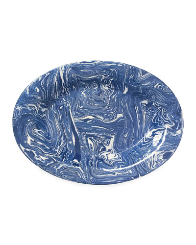 Marble Ceramic Oval Platter