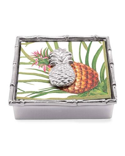 Pineapple Bamboo Napkin Box