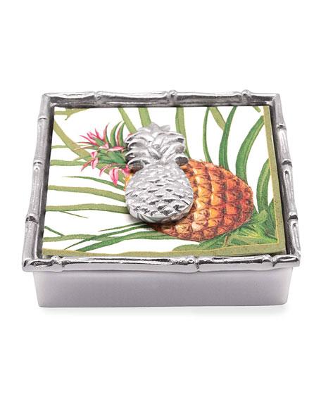 Mariposa Pineapple Bamboo Napkin Box