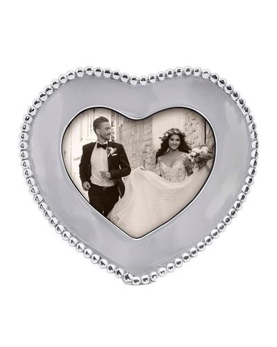Beaded Heart Frame  4 x 6