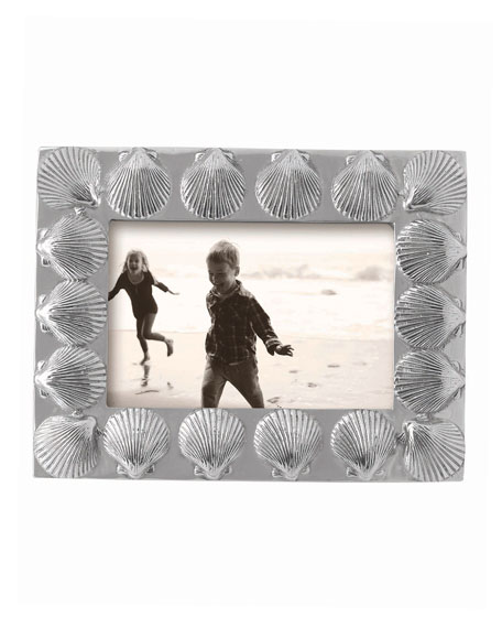 """Scallop Bordered Picture Frame,  4"""" x 6"""""""
