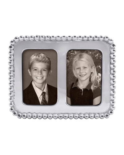 Beaded Double Picture Frame   2 x 3