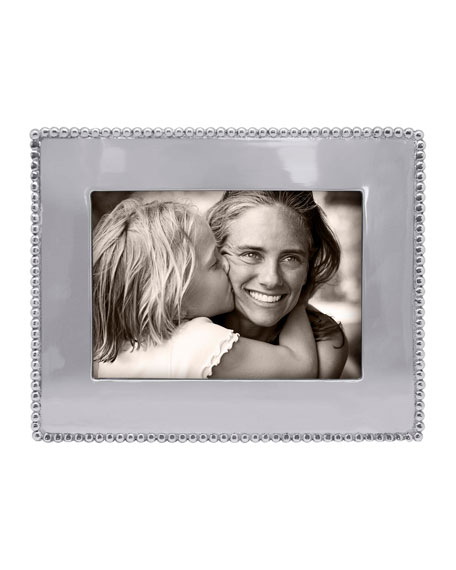 "Beaded Engravable Picture Frame, 5"" x 7"""