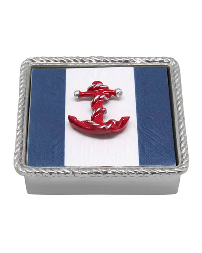 Red Anchor Rope Napkin Box