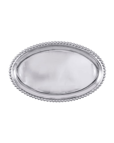 Pearled Large Oval Platter