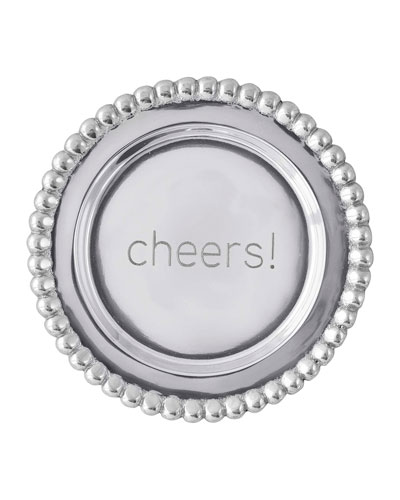 Cheers Beaded Wine Plate