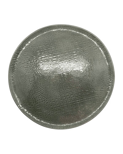 Crocodile Ceramic Round Plate