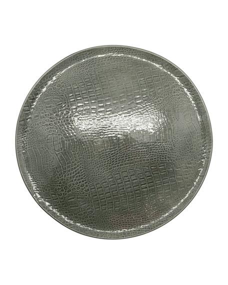 Crocodile Ceramic Round Plate
