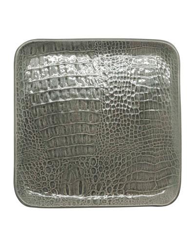 Crocodile Ceramic Large Square Plate