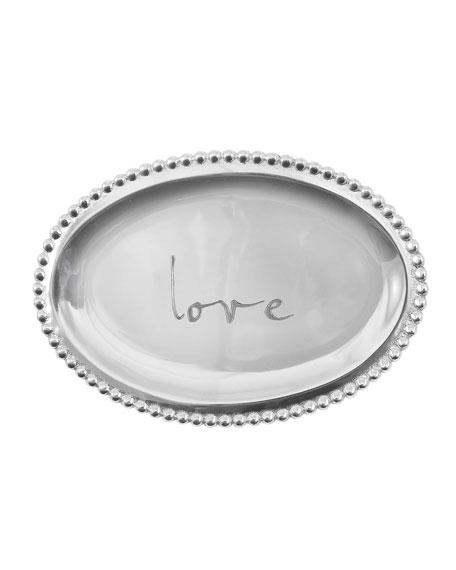 Love Small Oval Tray