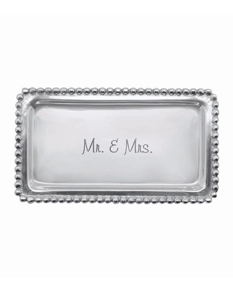 Mariposa Mr. & Mrs. Statement Beaded Tray