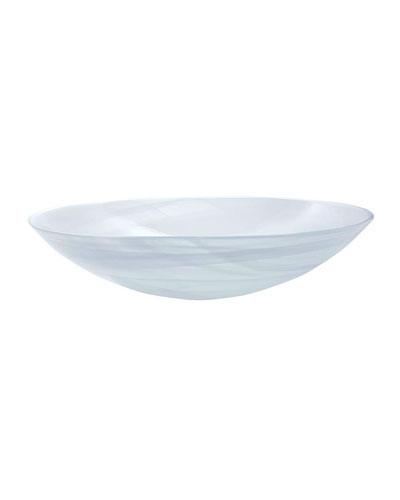 White Alabaster Salad Bowl