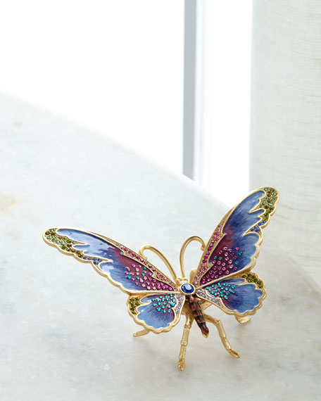 Jay Strongwater Large Butterfly Figurine