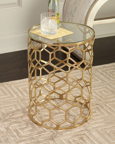 Thursby Brass Side Table