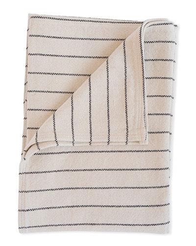 Cotton Pinstripe Throw