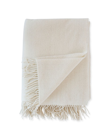 Herringbone Throw, Cream