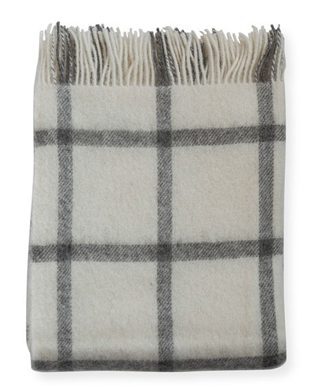 Merino Lambswool Patterned Throw