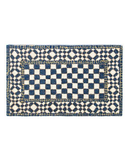 Royal Check Rug, 2.3' x 3.8'