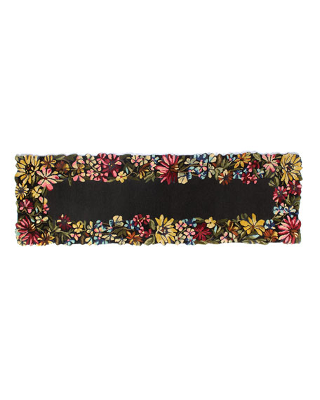 MacKenzie-Childs Butterfly Garden Runner, 2.5' x 8'