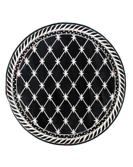 MacKenzie-Childs Brighton Pavilion Leather Round Rug, 6'