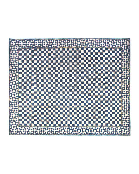 Royal Check Rug, 8' x 10'
