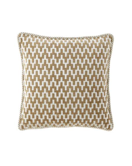 Patina Velvet Geometric Boutique Pillow
