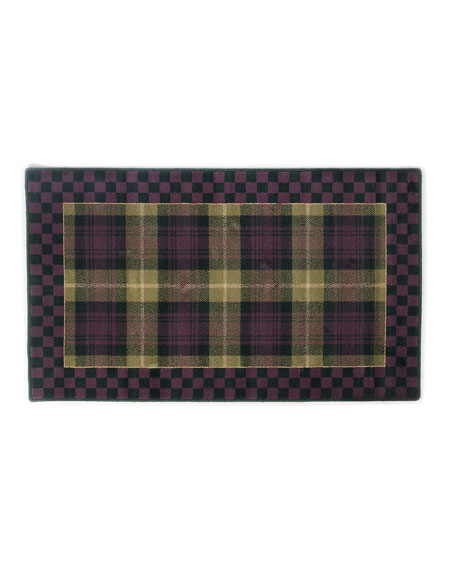 MacKenzie-Childs Moonlight Garden Tartan Rug, 3' x 4.9'