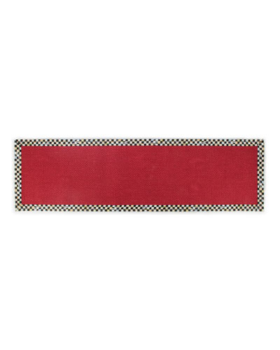 Courtly Check Red Sisal Runner  2.5' x 8'