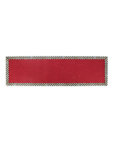MacKenzie-Childs Courtly Check Red Sisal Runner, 2.5' x