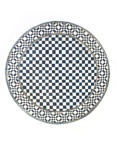 Royal Check Round Rug  6'