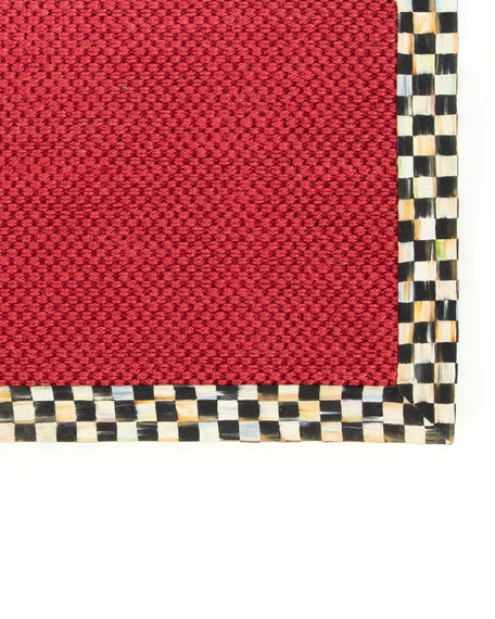 Courtly Check Red Sisal Rug, 8' x 10'