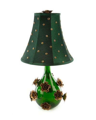 Rose Small Emerald Lamp