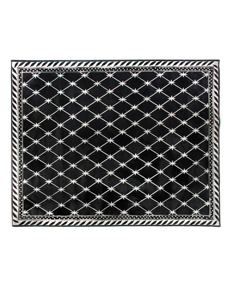 MacKenzie-Childs Brighton Pavilion Leather Rug, 8' x 10'