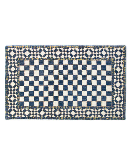 MacKenzie-Childs Royal Check Rug, 3' x 5'