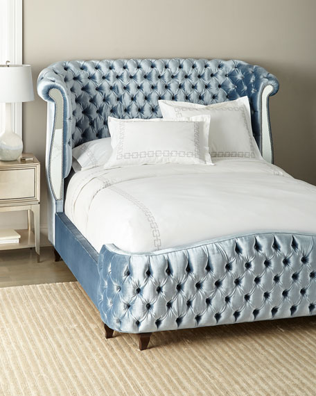 Brigitte Tufted Mirror Panel Queen Bed
